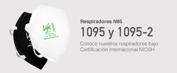 Respiradores N95, 1095 Y 1095-2